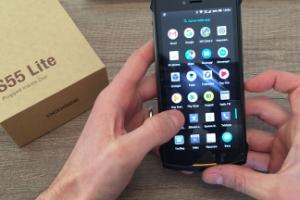 Doogee S55 Lite smartphone economico indistruttibile, subacqueo IP68 e impermeabile