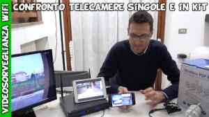 confronto kit videosorveglianza professionale e telecamere wifi Amazon