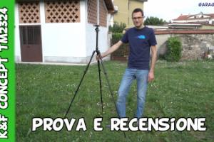 Recensione e test treppiede fotografico K&F Concept TM2324 testa a sfera per reflex e smartphone