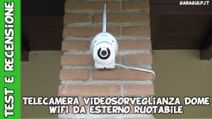 Telecamera videosorveglianza dome PTZ wifi da esterno
