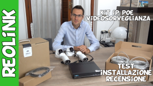 Reolink kit videosorveglianza ip poe con nvr e HDD