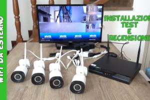 Amazon Reigy kit videosorveglianza wifi da esterno con visione notturna audio bidirezionale e notifica di movimento