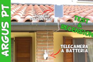 Telecamera Argus PT videosorveglianza a energia solare e batteria con sensore di movimento PIR, PTZ, sirena e alert via app