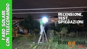 Luce solare con telecomando e pannello solare economica Bangood