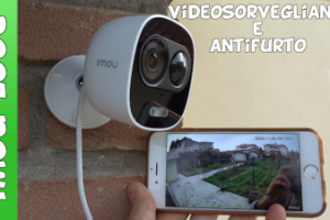 Telecamera videosorveglianza Amazon con funzione antifurto e sirena di allarme. Recensione test e spiegazione.