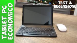 Tablet pc convertibile economico Amazon Kisedar con tastiera dual sim pennino e mouse recensione