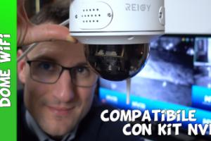 Reigy telecamera dome ip wifi da esterno per kit NVR REIGY con audio e rilevamento del movimento