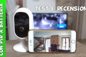 Reigy telecamera di videosorveglianza a batteria con sensore pir per rilevamento movimento e notifiche di allarme