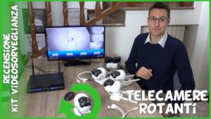 Kit videosorveglianza wifi con nvr e telecamere rotanti PTZ