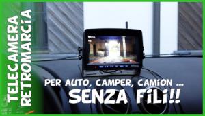 Recensione e test telecamera retromarcia parcheggio per auto camper roulotte camion senza fili