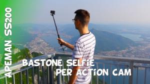 Recensione Apeman SS200 bastone selfie e power bank per action cam e GoPro