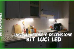 Luci LED cucina sottopensile con adesivo Amazon recensione e istruzioni montaggio