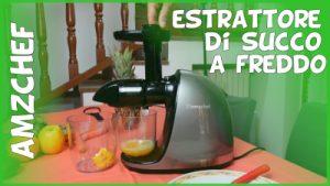 Meglio estrattore o centrifuga? Recensione estrattore di succo a freddo AMZCHEF per frutta e verdura